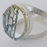 2015 Wee Blue Cocktail Ring: Titanium and Silver