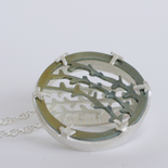 2015 Wild Heather Pendant: Titanium and Silver